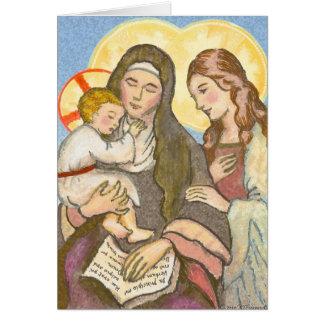St Ann com o cartão de Jesus e de Mary