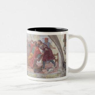 St Anthony que expulsa os jogadores (fresco) Caneca
