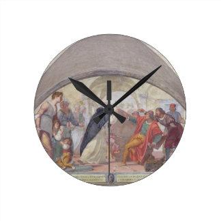 St Anthony que expulsa os jogadores (fresco) Relógios De Pendurar