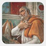 St Augustine em sua pilha, c.1480 Adesivo Quadrado