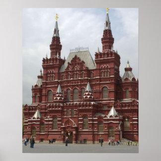 St. Catedral das manjericões no quadrado vermelho, Poster