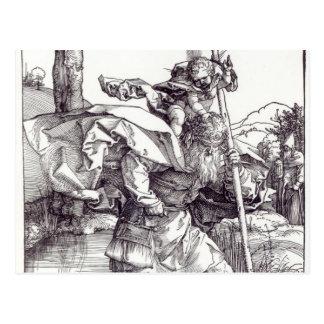 St Christopher que leva o cristo infantil, 1511 Cartão Postal