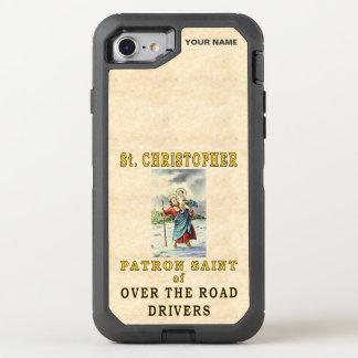 St Christopher (santo padroeiro de motoristas de Capa Para iPhone 8/7 OtterBox Defender