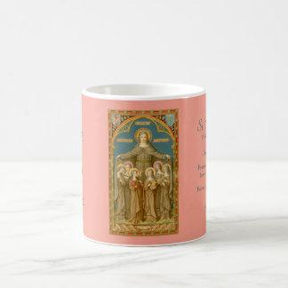St. Clare de Assisi & da caneca de café 2,1 das