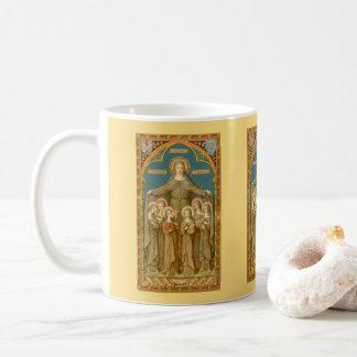St. Clare de Assisi & da caneca de café 2,3 das
