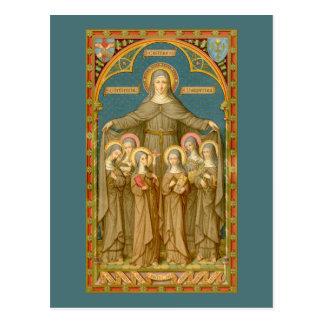 St. Clare de Assisi & do cartão 4 das freiras (SAU