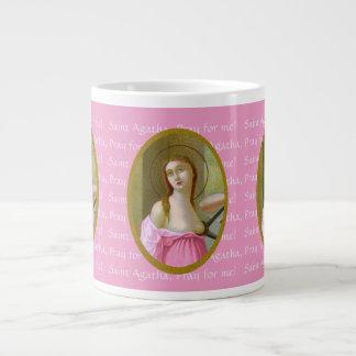 St. cor-de-rosa Agatha (M 003) 20 onças. Caneca de
