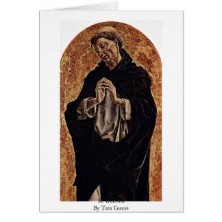 St Dominic por Tura Cosmè Cartao