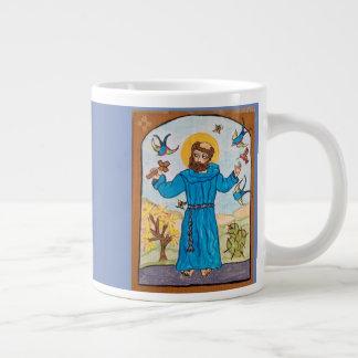 St Francis da caneca de Assisi