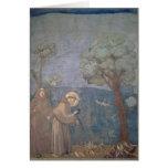 St Francis que Preaching aos pássaros, 1297-99 Cartões