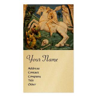 St George, dragão e princesa Monograma Ouro Cartão De Visita