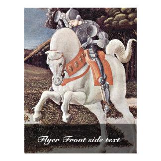 St George que luta o detalhe do dragão por Uccello Panfletos Personalizado