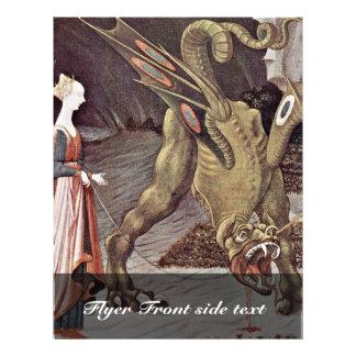 St George que luta o detalhe do dragão por Uccello Panfleto Personalizados