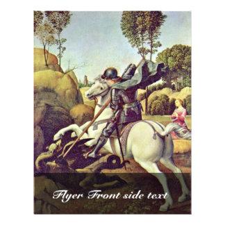 St George que luta o dragão por Raffael Panfletos Personalizados