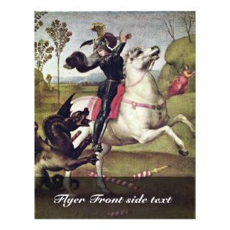 St George que luta o dragão por Raffael Flyer 21.59 X 27.94cm