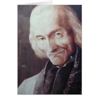 St. Jean Marie Vianney Cartão Comemorativo