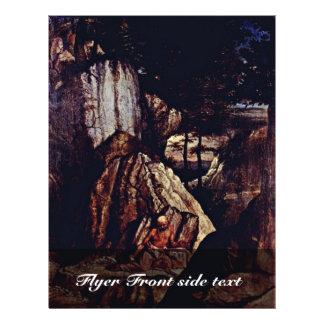 St Jerome no deserto pelo loto Lorenzo (o melhor Q Panfleto Personalizados