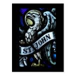 St John a arte do vitral do evangelista Cartão Postal