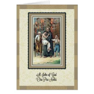 St John do deus Pray para nós o cartão de