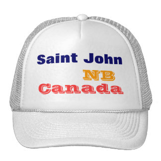 St John N.B. Canadá Boné