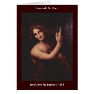 St John o baptista - personalizado - personalizado Cartão