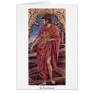 St John o baptista por Tura Cosmè Cartão