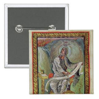 St John o evangelista, dos evangelho de Ebbo Bóton Quadrado 5.08cm