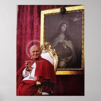 ST JOHN PAUL II E MADONNA. POSTER