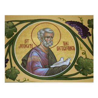 St Joseph o cartão da oração do Betrothed