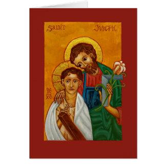 St Joseph o trabalhador com o cartão vazio de