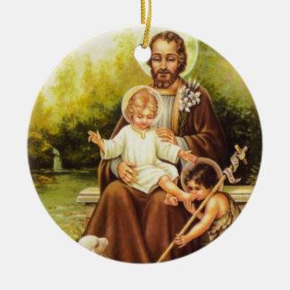 St Joseph /St. Ornamento tomado partido dobro de