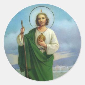 St. Jude o primo do apóstolo de Jesus Adesivo Redondo