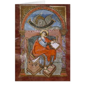 St Luke, do evangelho de St. Riquier Cartão Comemorativo
