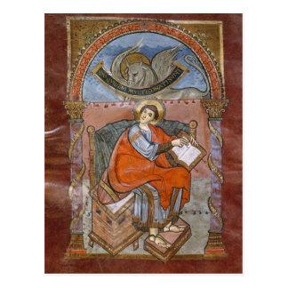 St Luke, do evangelho de St. Riquier Cartão Postal