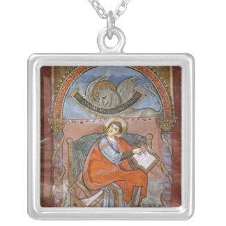 St Luke, do evangelho de St. Riquier Colar Com Pendente Quadrado
