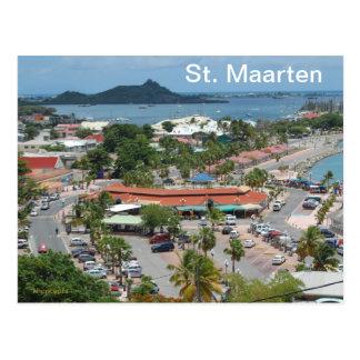 St. Maarten - baía de Marigot Cartão Postal
