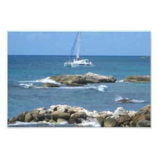St. Maarten do veleiro Impressão De Foto