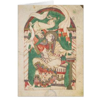 St Mark, de um evangelho da abadia de Corbie Cartão Comemorativo