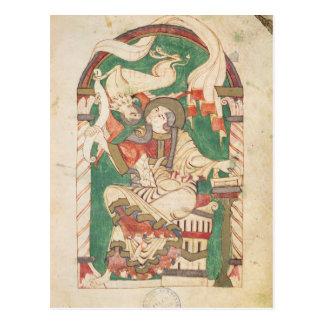 St Mark, de um evangelho da abadia de Corbie Cartão Postal