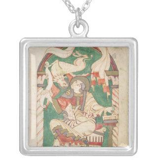 St Mark, de um evangelho da abadia de Corbie Colar Banhado A Prata