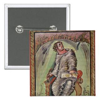 St Mark em sua mesa Bóton Quadrado 5.08cm