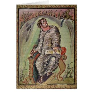 St Mark em sua mesa Cartão Comemorativo