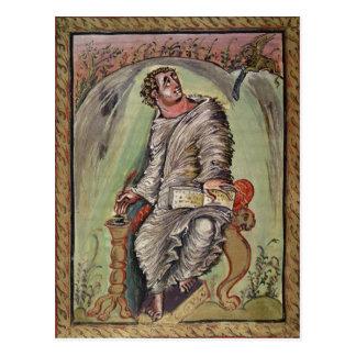 St Mark em sua mesa Cartão Postal