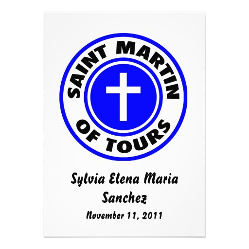 St Martin das excursões convida Convite Personalizados