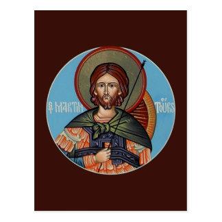 St Martin do cartão da oração das excursões