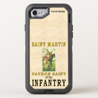 ST MARTIN (santo padroeiro da infantaria) Capa Para iPhone 8/7 OtterBox Defender