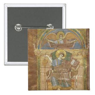 St Matthew, do evangelho de St. Riquier Bóton Quadrado 5.08cm
