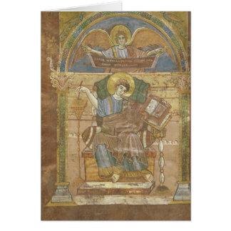 St Matthew, do evangelho de St. Riquier Cartão Comemorativo