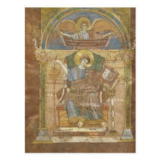 St Matthew, do evangelho de St. Riquier Cartão Postal
