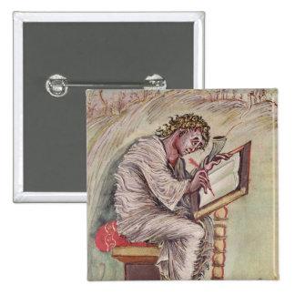 St Matthew, dos evangelho de Ebbo Bóton Quadrado 5.08cm